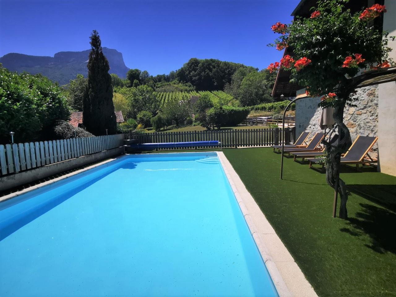 L'étang de la Tourne - piscine avec vue sur Le Granier